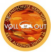 "Logo ""Voll ist out"""